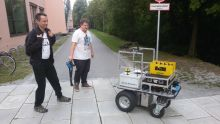 Zbyněk, Martin and delivery robot