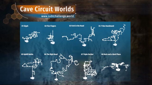 Cave Circuit competition worlds overview