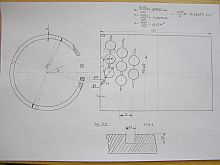 Drawing of the cylinder perforation