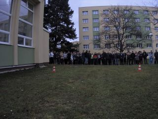 Robot's view of presentation at school in Chrudim (Jan 2018)